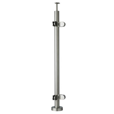 Top Mounted Corner Post for Glass