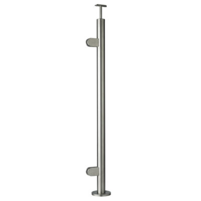 Top Mounted End Post for Glass